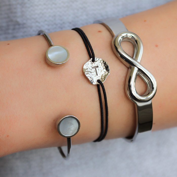 initaal armband letter T armband zilver goedkoop kopen