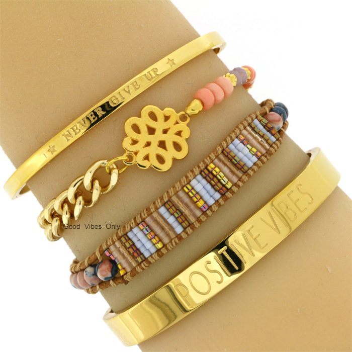 leren-armbanden-kralen-good-vibes-only