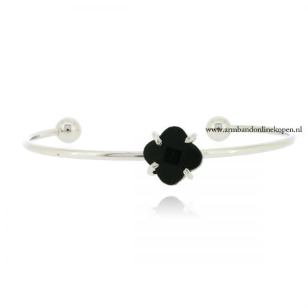 lucky-clover-armband-facet-steen-black-onyx