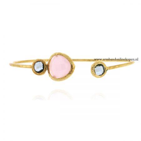 minimalistisch-armband-met-steen-roze-quartz