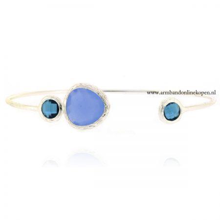minimalistisch armband met steen serenity