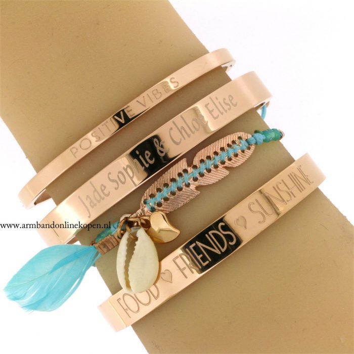 persoonlijke tekst sieraden eigen tekst armband met naam