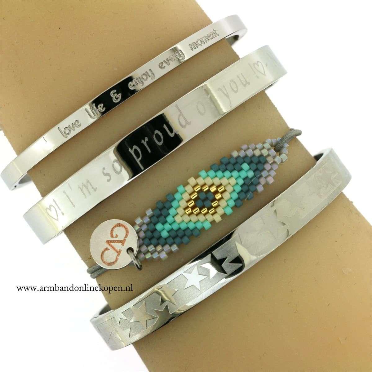 Aztec Bracelet Grey Silver