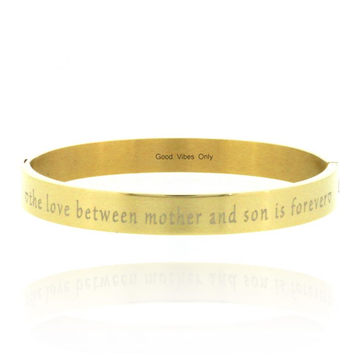 quote armband eigen tekst the love between a mother en son is forever