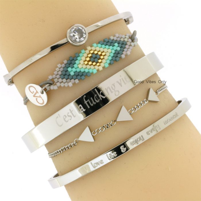 quote armbanden staal eigen quote armband