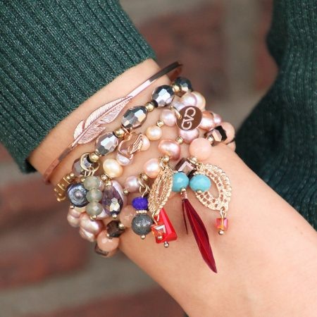 roze-goud-armbanden-set-mix