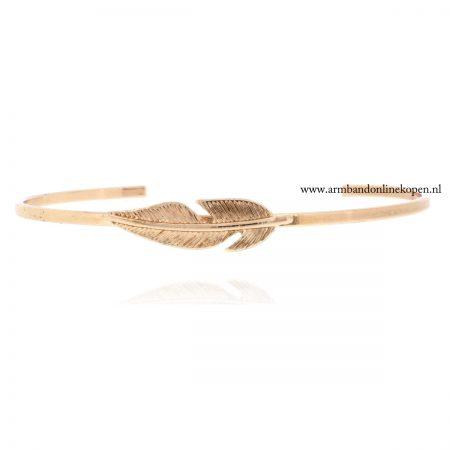 veer armband bangle roze goud