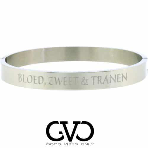 Slavenarmband zilver | Zilveren armband met tekst