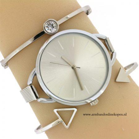 armband-zilver-steentje-minimalist