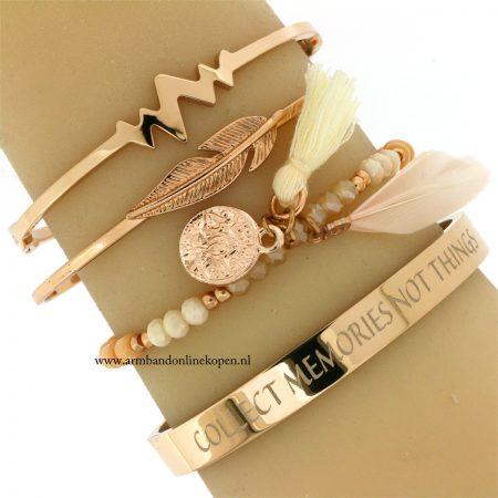 armbanden-eigen-quote-graveren-rose-goud