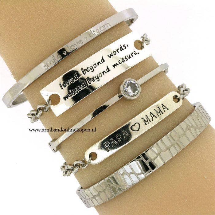 armbanden-met-quotes-zilver