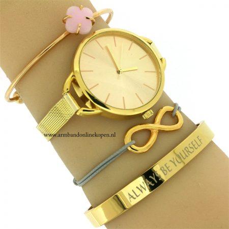 minimalistisch-horloge-goud online kopen