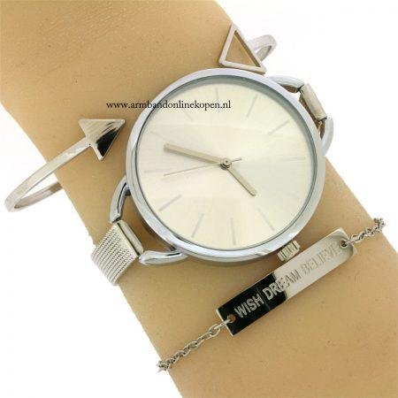 minimalistisch-horloge-zilver- goedkoop kopen