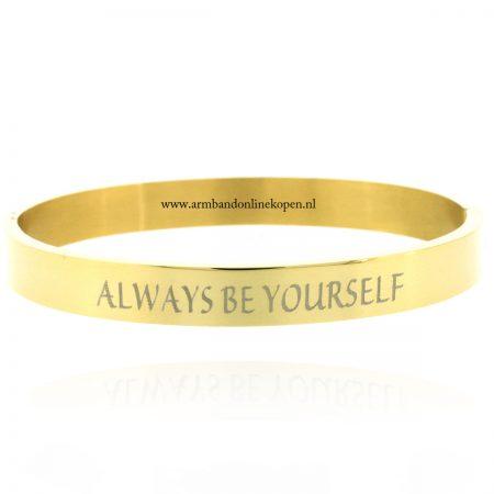 tekst-armband-met-quote-always-be-yourself