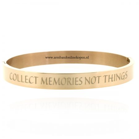 tekst-armband-met-quote-collect-memories-not-things