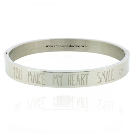 zilver-armband-staal-met-quote-you-make-my-heart-smile