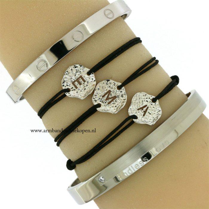 zilver-armbanden-initiaal