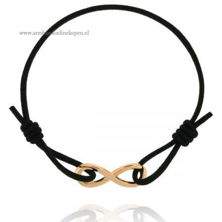 Infinity Bracelet Rose Gold Black