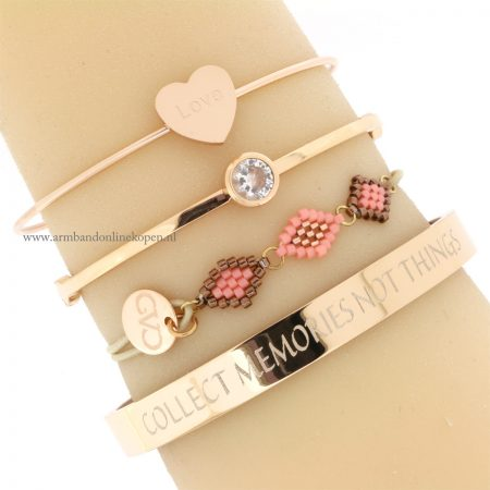 good vibes only armbanden bangles staal