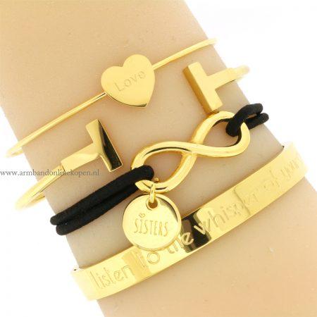 zussen armband goud goedkoop online kopen