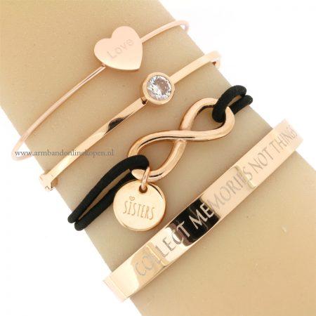 zussen armband roze goud goedkoop online kopen
