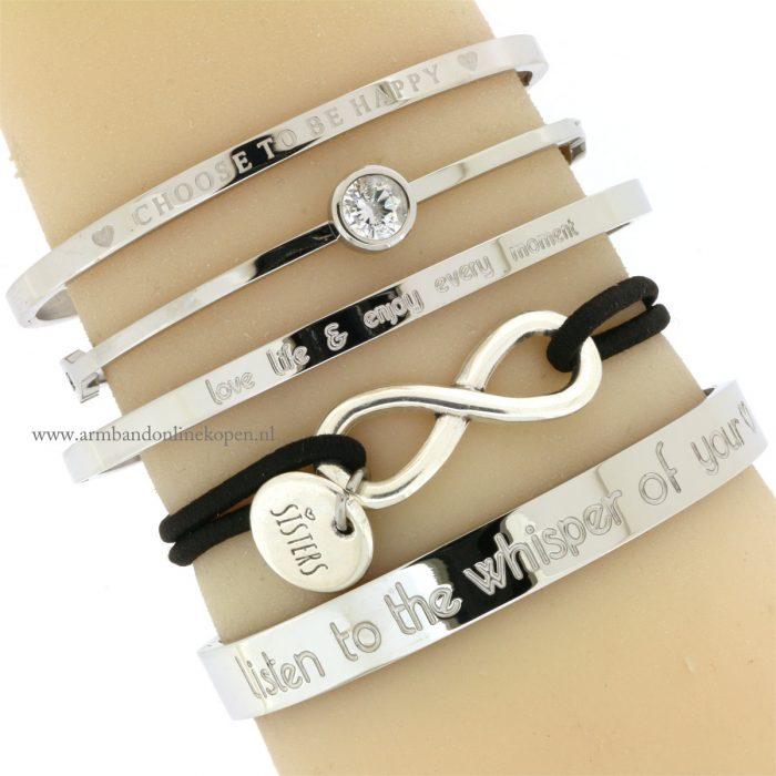 zussen armband zilver goedkoop online kopen