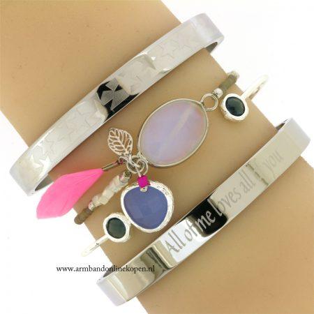 kralen armband met steen zilver online kopen