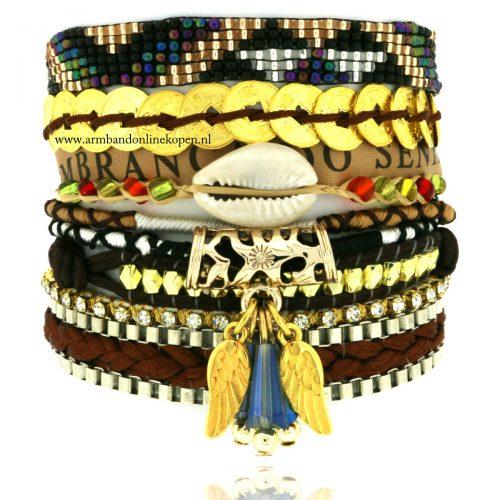 Good Vibes Only ibiza armband met schelp
