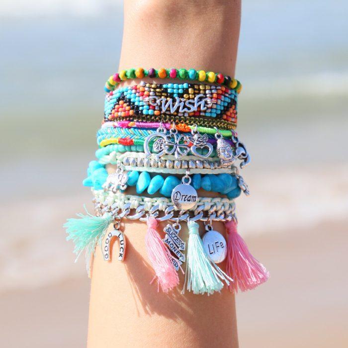 ibiza armband wish tekst