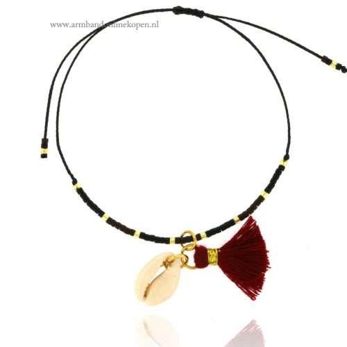 ibiza armbandjes met schelp en kwastjes goud