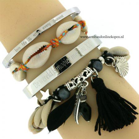 ibiza armbandjes met schelpen armcandy