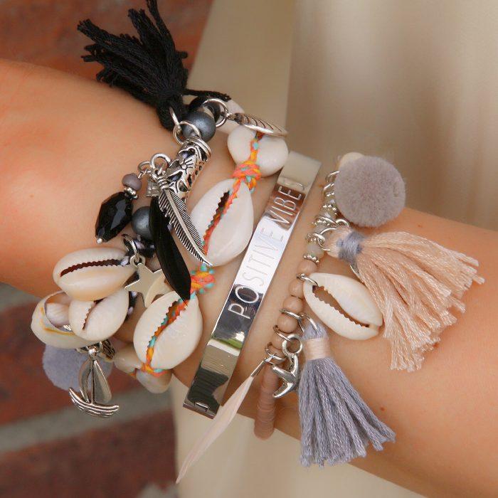 ibiza armbandjes met schelpjes armcandy