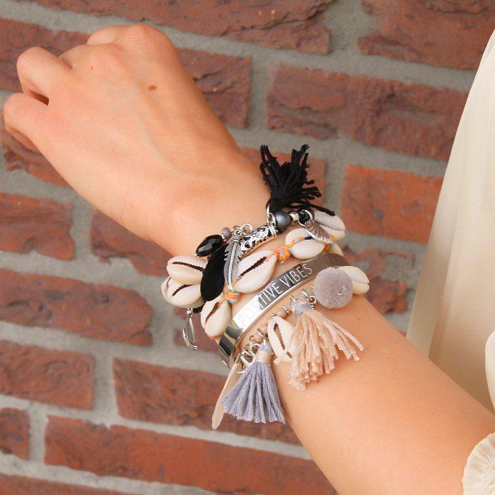 ibiza armbandjes met schelpjes armparty