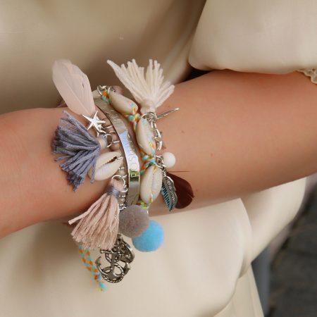 ibiza armbandjes met schelpjes nude