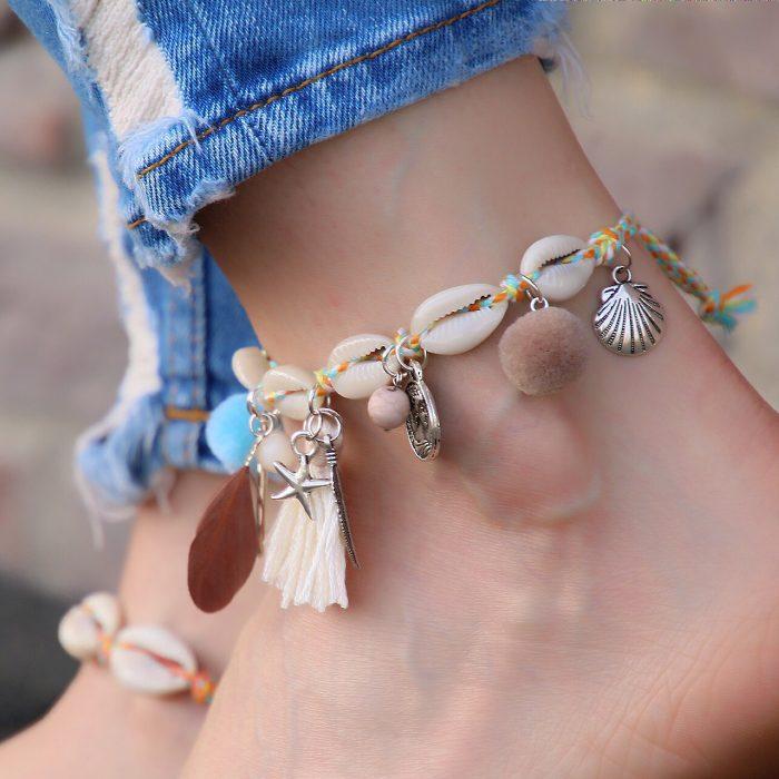 ibiza enkelbandje met zilver schelpjes