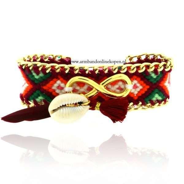 Ibiza armband met schelp Forever in my Heart