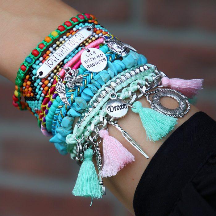 good vibes only hippe ibiza armbanden