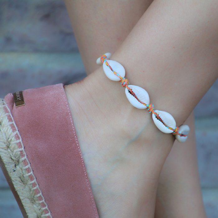 schelp armband enkelbandje met schelpen