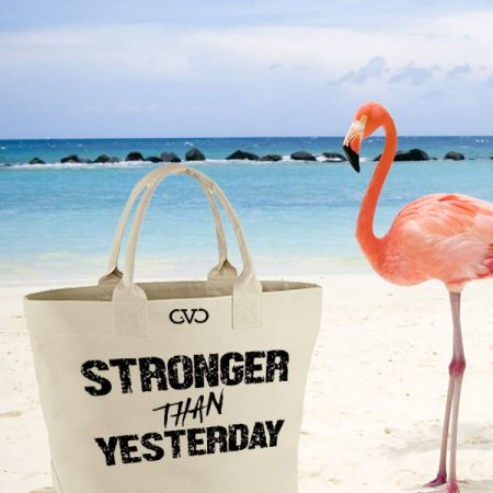 tas canvas tas quote stronger than yesterday