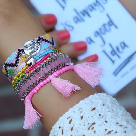 ibiza armband zacht roze