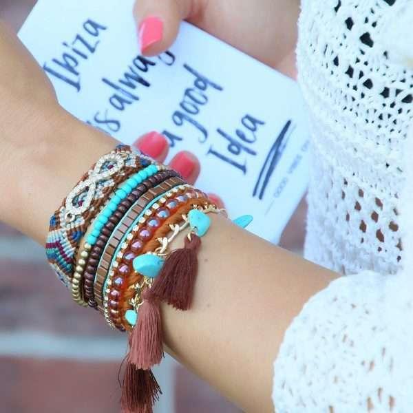 ibiza armbanden bruine tinten online kopen