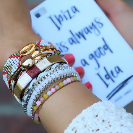 ibiza armbanden met goud schelp kopen
