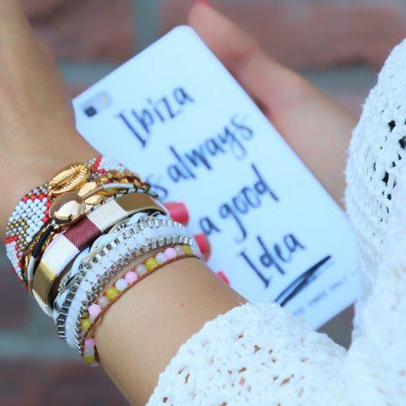 ibiza armbanden met goud schelp online kopen