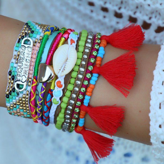 ibiza armbanden met schelp en spaanse quote