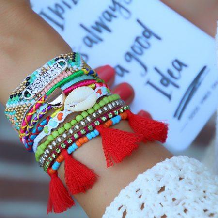 ibiza armbanden met spaanse quote tekstplaatje