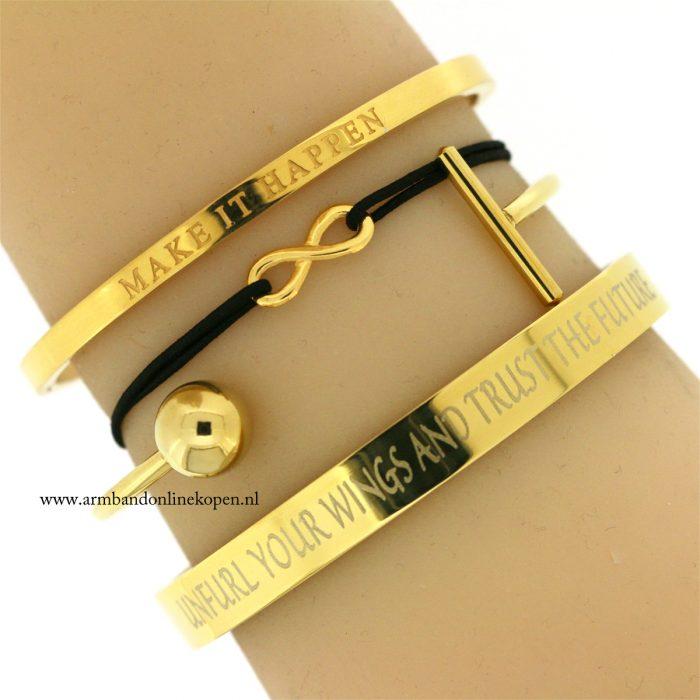 kleine infinity armbandje goud