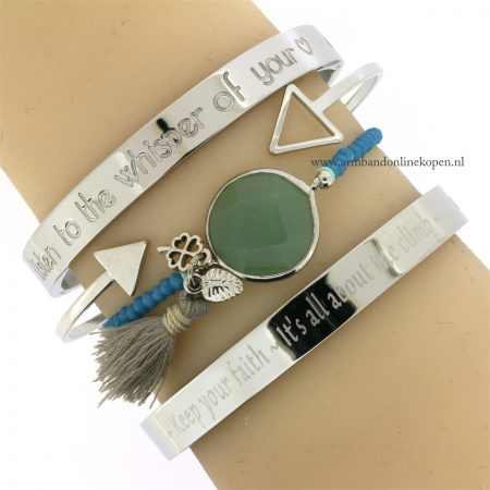 quote armband keep the faith - it s all about the climb