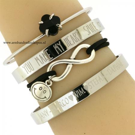 armband infinity smile-you make my heart smile