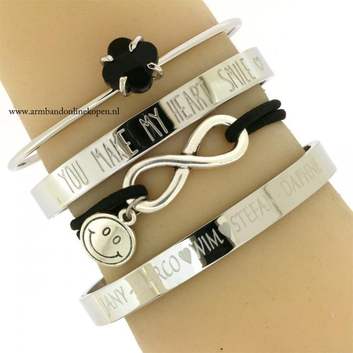 armband infinity smile-you make my heart smile