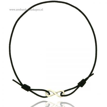 minimalistische infinity armbandjes zilver zwart
